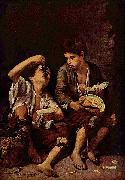 Beggar Boys Eating Grapes and Melon Bartolome Esteban Murillo