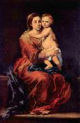 Madonna with the Rosary Bartolome Esteban Murillo