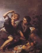 Children to eat dessert Bartolome Esteban Murillo