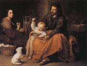 Holy Family and the birds Bartolome Esteban Murillo