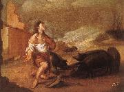 Libertine reduced pigpen Bartolome Esteban Murillo