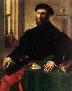Portrait of a Man - Oil on canvas CAMPI, Giulio