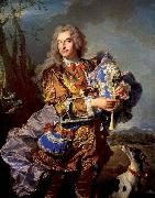 Gaspard de Gueidan playing the musette Hyacinthe Rigaud