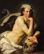 Self portrait as David with the head of Goliath, Johann Zoffany