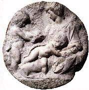 Madonna and Child with the Infant Baptist Michelangelo Buonarroti