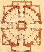 Plan for a Church Michelangelo Buonarroti