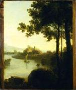 River Scene with Castle, Richard Wilson