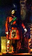 Sir David Wilkie flattering portrait of the kilted King George IV for the Visit of King George IV to Scotland, with lighting chosen to tone down the b Sir David Wilkie