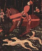 Portion of Paolo Uccello The Hunt paolo uccello