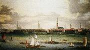 Anonymous painting Hamburg, one of the most important Hanseatic port wolfgang amadeus mozart
