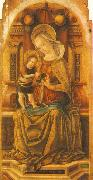 Virgin and Child Enthroned around CRIVELLI, Carlo