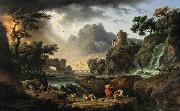 Mountain Landscape with Approaching Storm Claude-joseph Vernet
