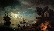 Seaport by Moonlight Claude-joseph Vernet