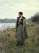 The Shepherdess of Rolleboise Daniel Ridgway Knight