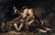 The Children of the Duc de Bouillon Francois-Hubert Drouais