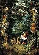 The Holy Family with St John Jan Brueghel the Younger