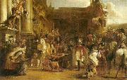 the entrance of george iv at holyrood house Sir David Wilkie