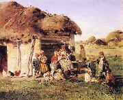 The Village Children Vladimir Makovsky
