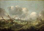 The painting Stormy Sea Adam Willaerts