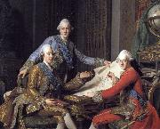 Gustav III of Sweden, and his brothers Alexander Roslin