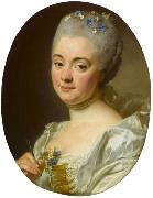 Portrait of the artist Marie Therese Reboul wife of Joseph-Marie Vien Alexander Roslin