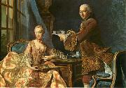 Double portrait, Architect Jean-Rodolphe Perronet with his Wife Alexander Roslin