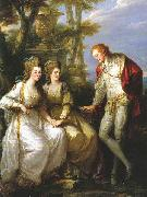 Portrait of Lady Georgiana, Lady Henrietta Frances and George John Spencer, Viscount Althorp. Angelica Kauffmann