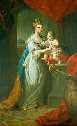 Portrait of Augusta of Hanover with her first born son Karl Georg of Brunswick Angelica Kauffmann