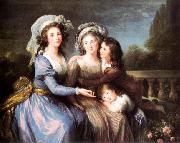 Marquise de Roug with Her Sons Alexis and Adrien Charles Lebrun
