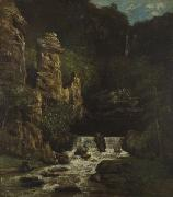 Landscape with Waterfall Courbet, Gustave