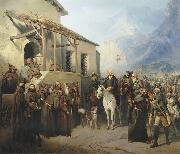 Field Marshal Alexander Suvorov at the top of the St. Gotthard September 13 Creator:Adolf Charlemagne.