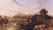 View on the Tiber Looking Towards Mounts Palatine and Aventine David Roberts