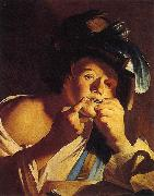 Man Playing a Jew s Harp Dirck van Baburen