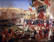 Arrival of Marshal Randon in Algiers in 1857. Ernest Francis Vacherot