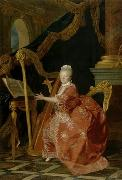 Victoire de France playing her harp Etienne Aubry
