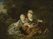 The Duke of Berry and the Count of Provence at the Time of Their Childhood Francois-Hubert Drouais