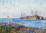 Ships, Williamstown by Frederick McCubbin Frederick Mccubbin
