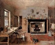 Kitchen at the old King Street Bakery Frederick Mccubbin