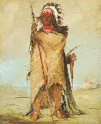 Fort Union 1832 Crow-Apsaalooke oil painting George Catlin