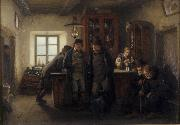 Farmers in a Barrelhouse HOFFMANN, Hans