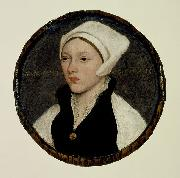 Portrait of a Young Woman with a White Coif HOLBEIN, Hans the Younger