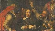 A portion of Hippolyte Delaroche's 1836 oil painting Charles I Insulted by Cromwell's Soldiers, Hippolyte Delaroche