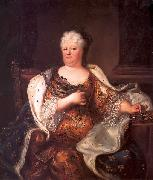 Portrait of Elisabeth Charlotte of the Palatinate (1652-1722), Duchess of Orleans Hyacinthe Rigaud