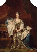 Full portrait of Marie Anne de Bourbon Dowager Princess of Conti Hyacinthe Rigaud
