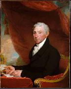 This portrait originally belonged to a set of half-length portraits of the first five U.S. presidents that was commissioned from Stuart by John Dogget James Monroe