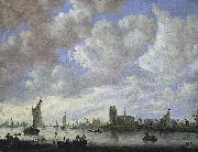 View of the Merwede off Dordrecht Jan van  Goyen