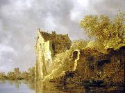 River landscape with a ruin Jan van  Goyen