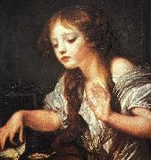 Young Girl Weeping for her Dead Bird Jean Baptiste Greuze
