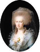 Portrait of Bolette Marie Harboe  wife of Johan Frederik Lindencrone Jens Juel