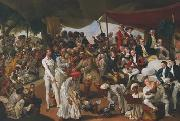 A Cockfight in Lucknow Johann Zoffany